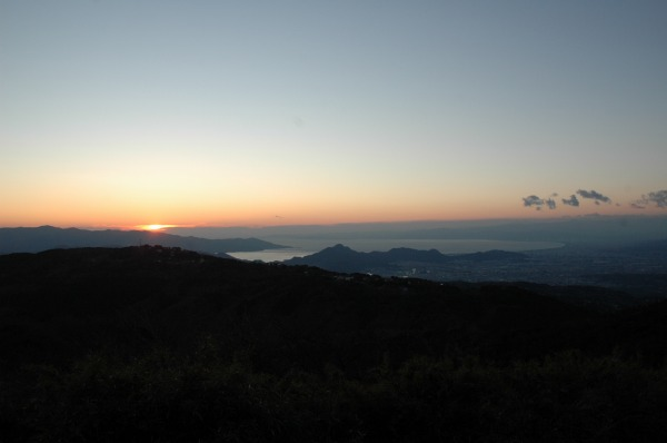 2010年の最後の夕日